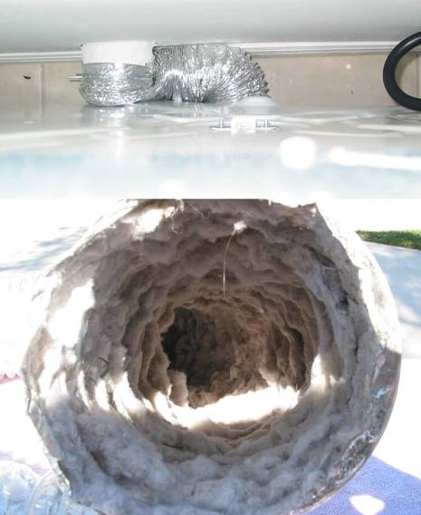Clogged dryer vent duct