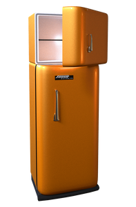 Refrigerator with open freezer